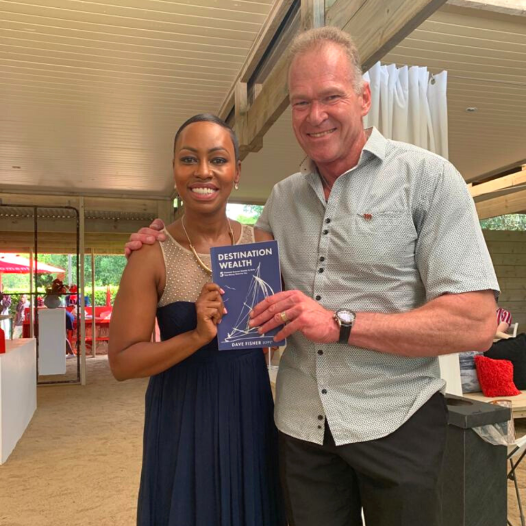 Dave Fisher with Elana Afrika-Bredenkamp.